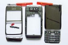 Full Fascia housing cover facia case faceplate for Nokia E71 Silver Grey