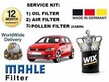 FOR VOLKSWAGEN VW POLO 1.2 TDi 2009-  SERVICE SET OIL AIR + POLLEN FILTER KIT