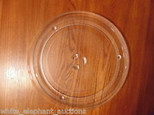 "12"" GE WB39X0078 MICROWAVE GLASS TURNTABLE TRAY / PLATE QUARTER SIZE DRIVE"