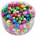 100pcs Colorful Iron Loose Beads Christmas Jingle Bells Pendants Charms 6x8mm
