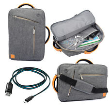 Gray Backpack Messenger Bag for Alienware ALW17-8751sLV 17.3-Inch Laptop +Cable