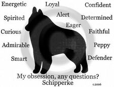 Schipperke  Dog Obsession?  T-shirt  SALE Black XLarge one only for you