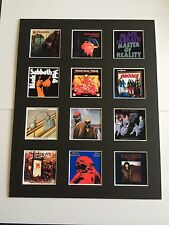 "BLACK SABBATH 14"" BY 11"" LP DISCOGRAPHY COVERS PICTURE MOUNTED READY TO FRAME"