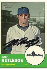 Josh Rutledge Signed 2012 Topps Heritage Minor League Card