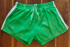MENS RARE VINTAGE GREEN NYLON ADIDAS SPORTS SHORTS 38  XL??