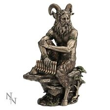 PAN. Large Horned Forest God with Pipes Bronze Figurine. Nemesis Now.Pagan/Wicca