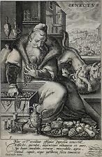 CRISPIJN DE PASSE - Lebensalter - Senectus - Kupferstich 1585-1595