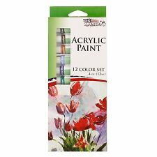 *NEW* Acrylic Artist Paint Set - 12 Tubes - Most Popular Colors - Free Shipping!