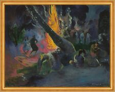 Upa Upa, The Fire Dance Paul Gauguin Brauch Eingeborene Feuertanz B A2 02995