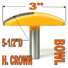 "1-pc 1/2"" SH 3"" Diameter Horizontal Crown Bowl Molding Round Router Bit sct-888"