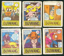 6 Vintage EXOTIC BUWANG Philippine TEKS / Trading Comic Cards 2