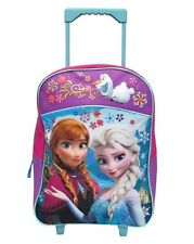"Disney Frozen Anna & Elsa 16"" Rolling Luggage Travel Backpack Travel Suite Case"