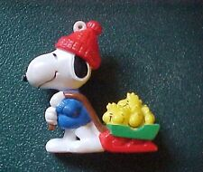 Peanuts Snoopy with a Sled full of  Woodstocks Christmas Ornament