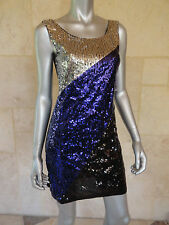 Sugar Spice New Purple Scoop Neck Fitted Sequined Party Clubwear Prom Dress Sz M