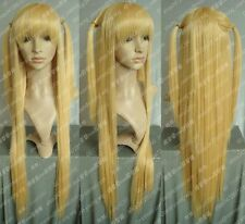 Death Note Cosplay Amane Misa Long Blonde Wig
