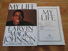 "FULL Signature ERVIN ""MAGIC"" JOHNSON signed MY LIFE Book COA LOS ANGELES LAKERS"
