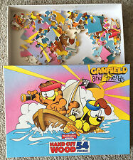 Garfield and Friends hand cut wood jigsaw puzzle, 54 pieces, Waddingtons 1092