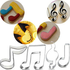 Stainless Steel Music Notes Party Biscuit Cookie Cutter Metal Mold Baking Tools