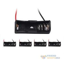 High Quality 5 x 23A A23 Cells Battery Size 12V Clip Holder Box Case Black #F8s