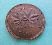 Rare 1963 Canadian Penny with Clip Errors - Near Uncirculated Collectible Coin