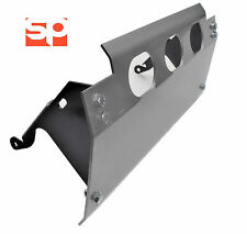 Land Rover Defender 90 110 5mm STEEL Steering guard SILVER + Black Side brackets