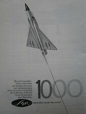 10/1962 PUB SEPR PROPULSION REACTION MIRAGE III MOTEUR FUSEE 1000 ème vol AD
