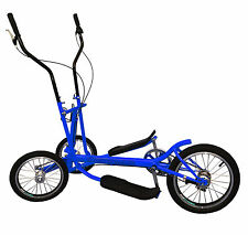 Blue 3 Speed Aluminum Street ELLIPTICAL Bike Trainer Stable 3-Wheel