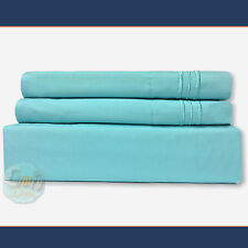 4 Piece Bed Sheet Set 1800 Series Deep Pocket Queen Size - Aqua Teal Color NEW