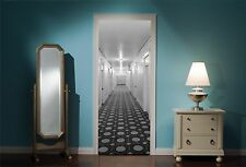 PORTA MURALE Hotel Corridoio camere da letto Vista Adesivi Da Parete Decalcomania Carta Da Parati 222