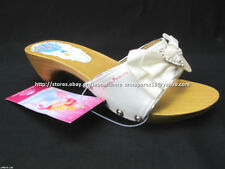 #TheBestSeller 50% OFF+FREE BAG! DISNEY PRINCESS WHITE SANDALS SHOES 33/7-8YO