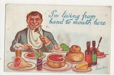 Living From Hand To Mouth W Stocker Shaw 1926 Postcard  209a