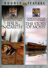 CHARLTON HESTON Bible Double Feature Jesus of Nazareth & Story of Moses DVD