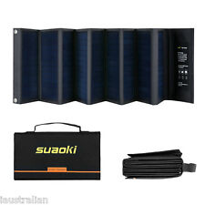 Suaoki 60W Solar Panel Charger High Efficiency 18V DC & 5V USB Fordable  Cah