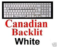 SONY SVF152C29L Keyboard - Canadian CA - White - Backlit