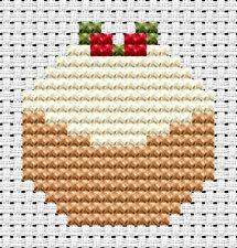Easy Peasy Navidad Pudding principiante Cross Stitch Kit Fat Cat 6 X 10 Cm 6 contar