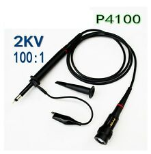 100X P4100 High Voltage 2KV 2000V Oscilloscope Scope Passive Clip Probe 100MHz