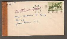 WWII 71147 examiner censor cover Aiko Matsumoto Hilo Hawaii to NY/air from coast