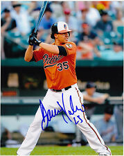 DANNY VALENCIA  BALTIMORE ORIOLES      ACTION SIGNED 8x10