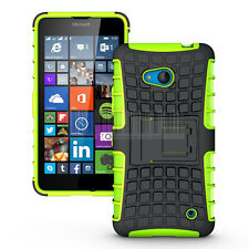 Hybrid Shockproof Armor Rugged Hard Case Cover Stand For Microsoft Lumia 640