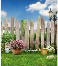 8x8FT Green Garden Wooden Fence Custom Photo Studio Background Backdrop Vinyl