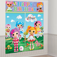 New Lalaloopsy WALL POSTER Decoration Kit Scene Setter Birthday Party Supplies~
