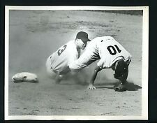 Dale Mitchell & Phil Rizzuto 1951 Press Photo Cleveland Indians