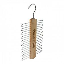 New Personalised Wooden Tie Belt Hanger Rack Organiser Storage Fathers Day Gift