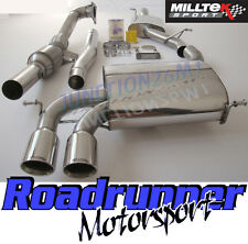 Milltek Audi S3 8P Exhaust 2.0T 3 Door Turbo Back Resonated & Sport Cat SSXAU127