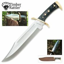 """16 1/2"""" Fixed Blade Timber Rattler Western Outlaw Bowie Knife FULL TANG-17 TR65"""