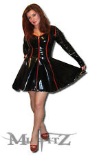 Misfitz black/red PVC sweetheart skater dress  size 20  fetish TV goth