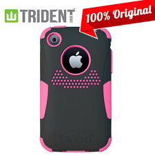Apple iPhone 3GS 3G Case, Trident Aegis Hybrid Hard Case Pink/Black Cover