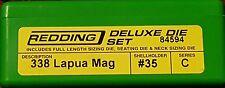 84594 REDDING 3-DIE FULL LENGTH / NECK 338 LAPUA MAG DELUXE DIE SET - NEW