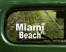 Miami Florida Decal Sticker (2) for Car, Truck, Laptops