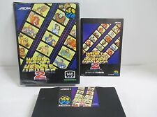 NEOGEO AES -- WORLD HEROES 2 -- Boxed. JP JAPAN SNK.  Clean & Work fully!!13471